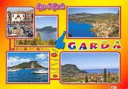 Italy Lago Di Garda Multiviews Harbour Port Boats Panorama - Other
