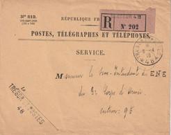 13409  TRÉSOR Et POSTES *48* -  6/4/18  - RECOMMANDÉ SECTEUR 48 - 1. Weltkrieg 1914-1918
