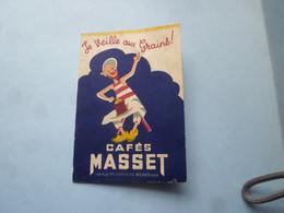 Mini Calendrier 1953 CAFES MASSET  142 Rue Ste Catherine BORDEAUX (Je Veille Au Grains   (2020 Octobre 3) - Calendari