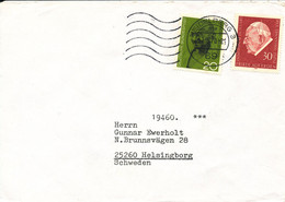 Germany Cover Sent To Sweden 17-3-1970 With Pope And Mahatma Gandhi Stamps - Lettres & Documents