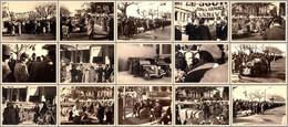 1935 - RALLYE AUTO FÉMININ : PARIS - VICHY - SAINT RAPHAËL : LOT De 15 PHOTOS ORIGINALES ( 9 X 12 CM ) - RRR !!! (af612) - Coches