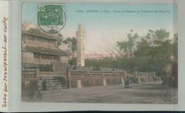 Timbre 5C INDO-CHINE  TONKIN  ANNAM - HUE Cours Et Pagode Au Tombeau De Tieu.Tri    (2020 Septembre 433) - Storia Postale