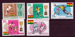 Mint, Hinged - World Soccer Cup 1966 - Ghana (1957-...)