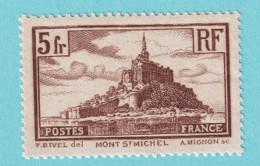 1929, YT No.260 Type II, Mont-Saint-Michel, MNH - Nuevos