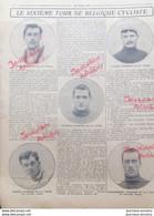 1913 CYCLISME - LE SIXIÈME TOUR DE BELGIQUE CYCLISTE - ENCEL - FABER - BUYSSE - MASSON - VANDENBERGHE - 1900 - 1949