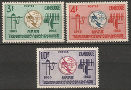 Cambodia 1965 Sc 146-8  Set MNH - Cambodja