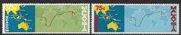 Malaysia  1967  Sc#42-3  Telecom Set MH   2016  Scott Value $4.75 - Malaysia (1964-...)