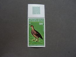 AFARS Et ISSAS - YT PA N° 71 - Neuf ** - MNH - Cote: 43,00 €  Vogel , Bird - Cartas