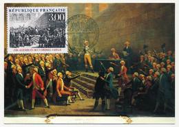 FRANCE - Carte Maximum - 3,00 Assemblée Des Trois Ordres - VIZILLE - 1988 - 1980-89