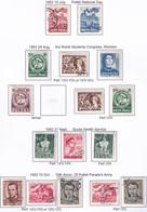 POLAND 1953 Fi 671-82 Mint Hinged & Used - Usados