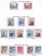 POLAND 1954 Fi 699-706 Mint Hinged & Used - Usados