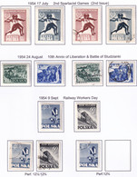 POLAND 1954 Fi 721-22 +726-29 Mint Hinged & Used - Usados