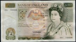 UK (Great Britain) England £50 Pounds Queen Elizabeth II Banknote  (1991) - 1952-… : Elizabeth II