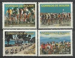 Bolivia 2000 Mi 1439-1442 MNH ( ZS3 BLV1439-1442 ) - Radsport