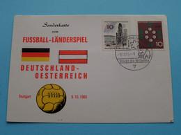 Sonderkarte FUSSBALL-LÄNDERSPIEL > DEUTSCHLAND / OESTERREICH Stuttgart ( Stamp 9-10-1965 Bad Cannstatt ) ! - UEFA European Championship