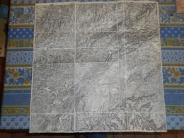 CARTE TOPOGRAPHIQUE ENTOILEE 19 Eme BESANCON ET SA REGION - Topographische Kaarten