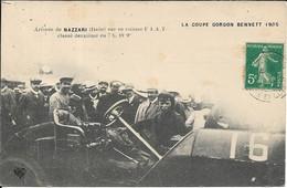 AUTOMOBILE.Arrivée De NAZZARI (Italie) Sur Sa Voiture FIAT.Coupe Gordon Bennett 1905 - Turismo