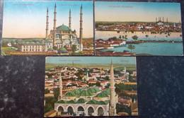 TURQUIE TURKEY SYRIA GREECE BALKAN Postcard Carte Postale CPA  LOT #2/30 : 3 Pc ANDRINOPLE - Turquia