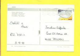 STORIA POSTALE ITALIA - ISOLATI SU  CARTOLINA - 1981-90: Marcofilia