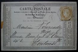 Allemans 1875 ( Lot Et Garonne) Boîte Rurale F , Cachet De Miramont Sur Carte Précurseur - 1849-1876: Periodo Clásico