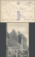 Bataillon Allemand - CP Vue (Westende-Dorf) + Feldpostadresse Des Abs : Bayr. Flieger-Abt. 46 Feldpost-Station 102 - Duits Leger