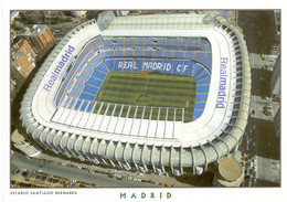 Postcard Stadium Madrd Spain Santiago Bernabeu Stadio Estadio Stade Sports Football Soccer - Fútbol