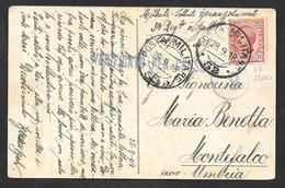 POSTA MILITARE N°52 SU CARTOLINA CROCE ROSSA AMERICANA 28.9.1918 N°265 - Marcofilie
