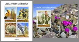CHAD 2020 MNH Cactuses Birds Vögel + Kakteen M/S+S/S - OFFICIAL ISSUE - DHQ2040 - Sonstige