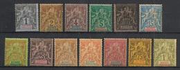 Guinée - 1892 - N°Yv. 1 à 13 - Type Groupe - Série Complète - Neuf * / MH VF - Neufs