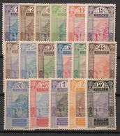 Guinée - 1913-17 - N°Yv. 63 à 79 - Série Complète - Neuf * / MH VF - Neufs