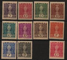 Guinée - 1938-44 - Taxe TT N°Yv. 26 à 36 - Complet - 11 Valeurs - Neuf * / MH VF - Neufs
