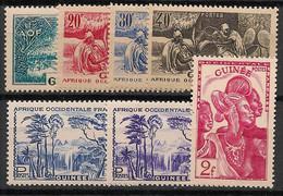 Guinée - 1943 - N°Yv. 178 à 184 - Série Complète - Neuf * / MH VF - Neufs