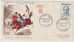 FDC FRANCE N° Yvert 1138 (GOETHE) Obl Sp 1er Jour - 1950-1959