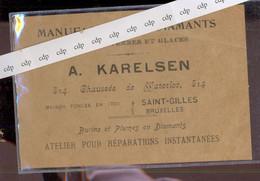 Carte Publicitaire  Diamants    St Gilles - Pubblicitari
