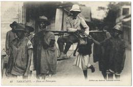 TAMATAVE (Madagascar) Hova En Filanzana - Chaise à Quatre Porteurs - Gros Plan - Belle Anmation - Madagascar