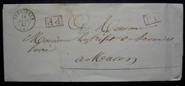 Serrières 1842 (Ardèche) Lettre En Port Payé Pour Mâcon, Sans Correspondance - 1801-1848: Precursores XIX