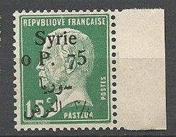 SYRIE N° 144  NEUF** LUXE  SANS  CHARNIERE / MNH - Nuevos