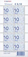 Nederland - Bijplakzegels In Euro - 10 Maal € 0,10 - Jaar 2003 - Logo TPGPOST - MNH - NVPH Va2135c - Unused Stamps