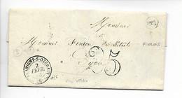 FLAVIGNY SUR OZERAIN Côte D'Or CAD Type 15 + Taxe Tampon 25 + Boîte Rurale F FROLOIS Sur Pli De La Mairie De F    ....HH - 1801-1848: Precursores XIX