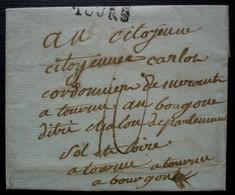 Tours Marque TOURS 30 X 6 Sur Lettre Pour Tournus, Sans Correspondance - 1801-1848: Precursores XIX