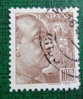 &SVE 161D& ESPAÑA SPAIN  EDIFIL 878, YVERT 675,  MICHEL 839 VF USED. FRANCO SANCHEZ TODA. - 1931-50 Usati