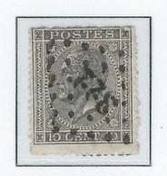 COB  17Aa Gris-noir     (°) - 1865-1866 Perfil Izquierdo