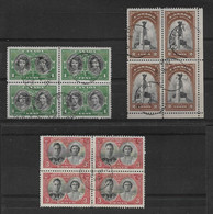 CANADA 1939 ROYAL VISIT SET IN VERY FINE USED BLOCKS OF 4 SG 372/374 Cat £9 - Sin Clasificación