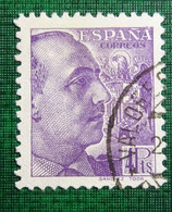 &SVE 161F& ESPAÑA SPAIN  EDIFIL 877, YVERT 674,  MICHEL 838 VF USED. FRANCO SANCHEZ TODA. - 1931-50 Usati
