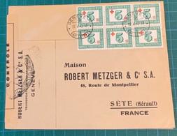 Suisse - GENEVE - N°Z 24 X6 (bienfaisance) - Cad 19/5/45 Pour La France - Censuré LYY (Lyon) - - Brieven En Documenten