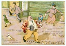 Alsace-Lorraine. Annexion Allemande.suspensions De Libertés Publiques. Les Habitants Punis Doivent Rentrer à 5 Heures. - Satirische