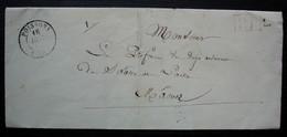 Poissons, Haute Marne 1848 Lettre En Port Payé Pour Mâcon, Sans Correspondance - 1801-1848: Precursores XIX