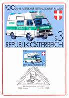Österreich Austria Autriche - 100 Jahre ärztlicher Rettungsdienst (MiNr: 1694) 1981 - MK - Cartas Máxima