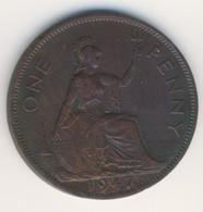 GREAT BRITAIN 1947: 1 Penny, KM 845 - 1902-1971 : Monete Post-Vittoriane