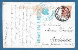 POSTA MILITARE N°52 SU CARTOLINA ILLUSTRATA DI GUERZONI 13.7.1918 4° REGGIMENTO C.S. N°266 - Marcofilie
